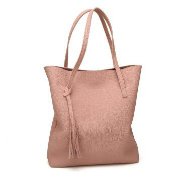 Contracted Handbag Tassel Shoulder Bag -  PINK