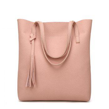 Contracted Handbag Tassel Shoulder Bag - PINK PINK