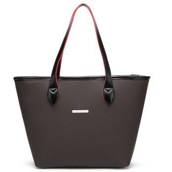 Fashion Simple Tote Bag Casual Handbag with A Large Bag - BLACK BLACK