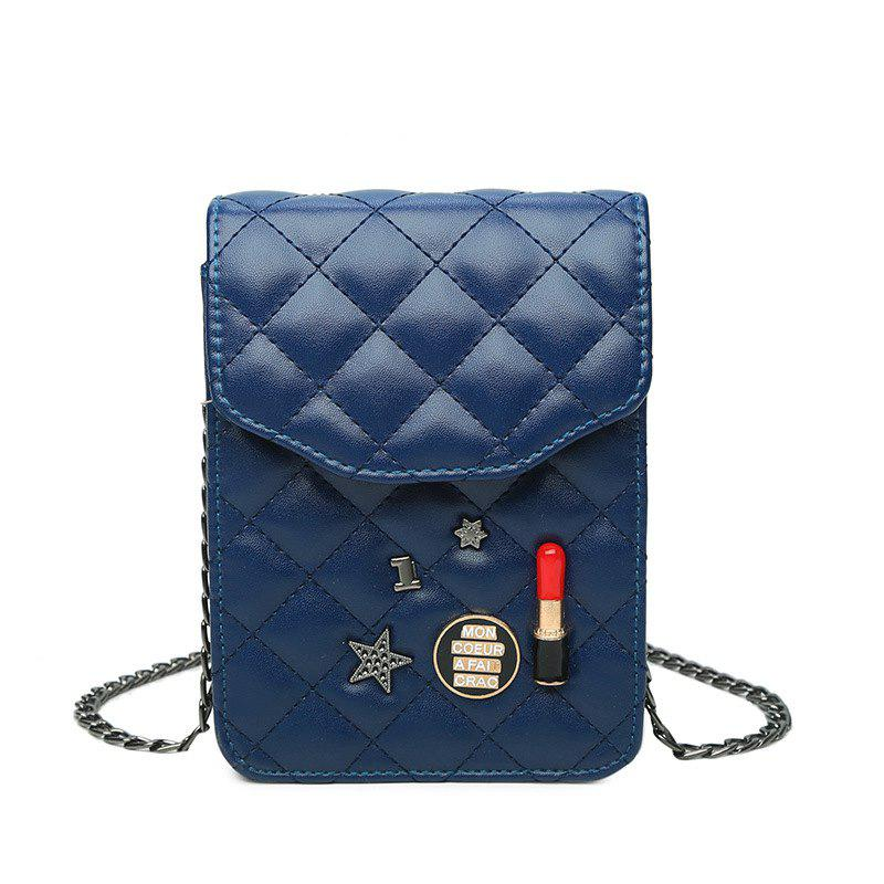 Crossbody Bag Purse Female Mobile Phone Bag - LAPIS VERTICAL