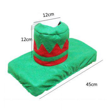 Creative Christmas Decoration 3PCS Wizard Toilet Cover Sets - GREEN
