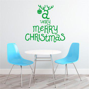 Antique  Removable Wall Stickers for Christmas Decoration - GREEN GREEN