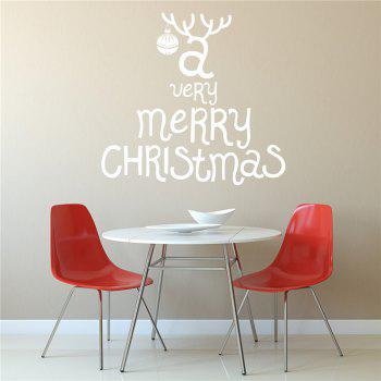 Antique  Removable Wall Stickers for Christmas Decoration - WHITE WHITE