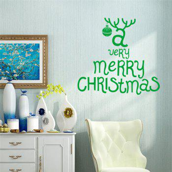 Antique  Removable Wall Stickers for Christmas Decoration - GREEN