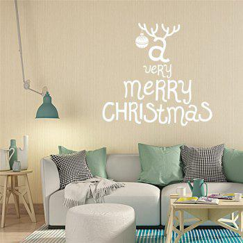 Antique  Removable Wall Stickers for Christmas Decoration - WHITE