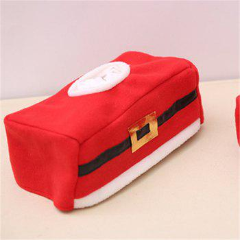 Tissue Box Red Cover Christmas Decorations - RED