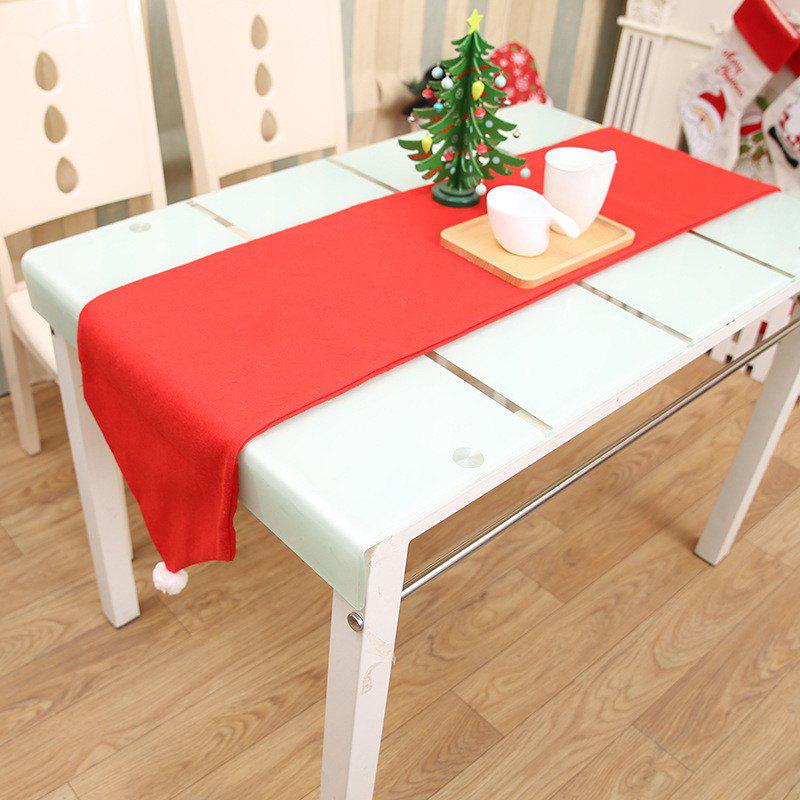 Red Christmas Table Flag Tablecloths for Table Decorations - RED