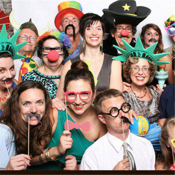17pcs Funny Take Pictures Photo Booth Props Christmas Party Decor - COLORMIX