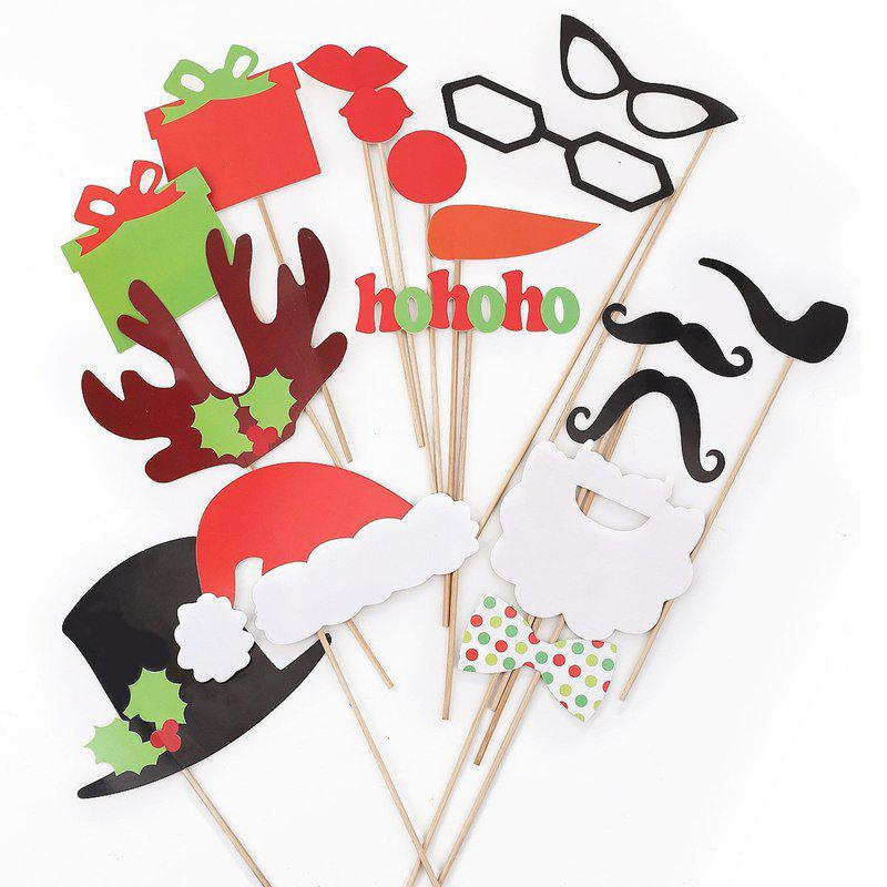 17pcs Funny Take Pictures Photo Booth Props Christmas Party Decor moving pictures