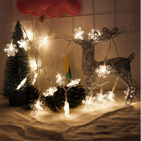2m 20 led snowflake lights battery powered string lights for christmas decoration warm white - Battery Powered Christmas Decorations