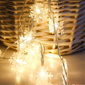 2M 20-LED Snowflake Lights Battery Powered String Lights for Christmas Decoration - WARM WHITE LIGHT
