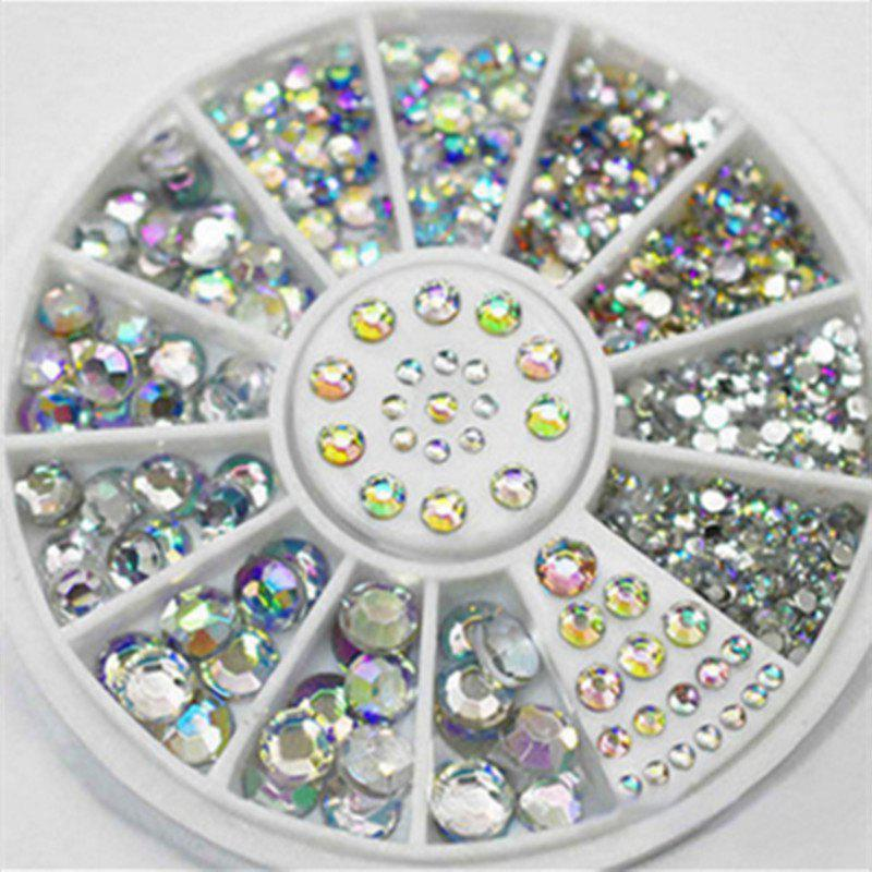 4 Size 300pcs Nail Art Tips Crystal Glitter Rhinestone Decoration - multicolor COLOR