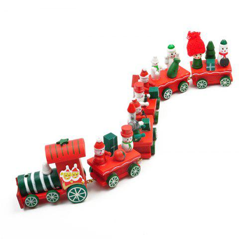 WS Hot New Lovely Charming Little Train Wood Christmas Train Ornament Decoration Decor Gift - FLAME SIZE 4