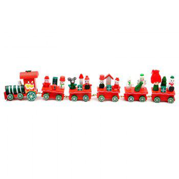 WS Hot New Lovely Charming Little Train Wood Christmas Train Ornament Decoration Decor Gift - FLAME SIZE 3