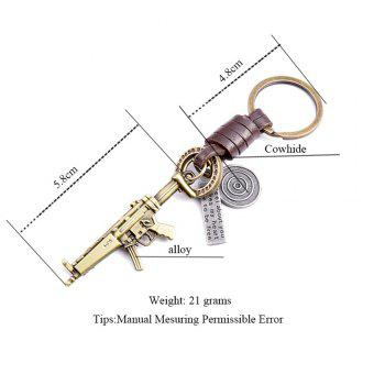 Men's Key Ring Personality Unique Design Brief Durable Key Ring Accessory -  BRONZED