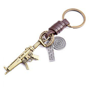 Men's Key Ring Personality Unique Design Brief Durable Key Ring Accessory - BRONZED BRONZED