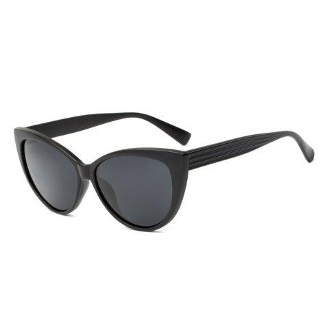 TOMYE P592 Fashion PC Cat Polarized Sunglasses for Women - BLACK
