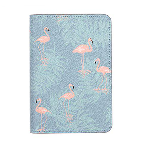 Organisateur de document de voyage Flower Animal Pattern Passeport ID Card Sac de rangement - Gris