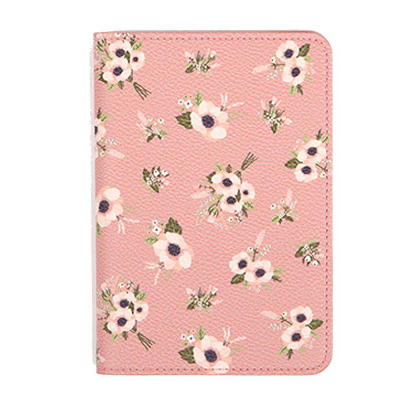 Organisateur de document de voyage Flower Animal Pattern Passeport ID Card Sac de rangement - ROSE PÂLE