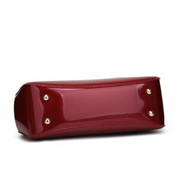 Elegant High-grade Patent Leather Dinner Bag Single-shoulder Female - RED HORIZONTAL