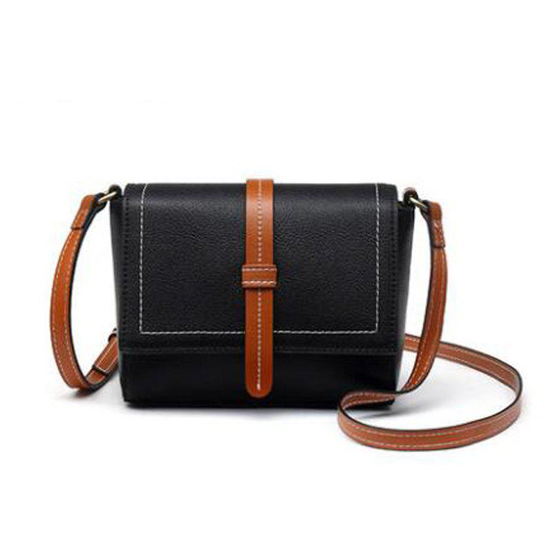 Personality Single Shoulder Cross Retro Color Small Package - BLACK
