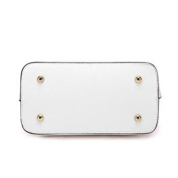 Handbag of 2017 Spring New Handbag with A Fashion Chain with A Single Shoulder Wave - WHITE