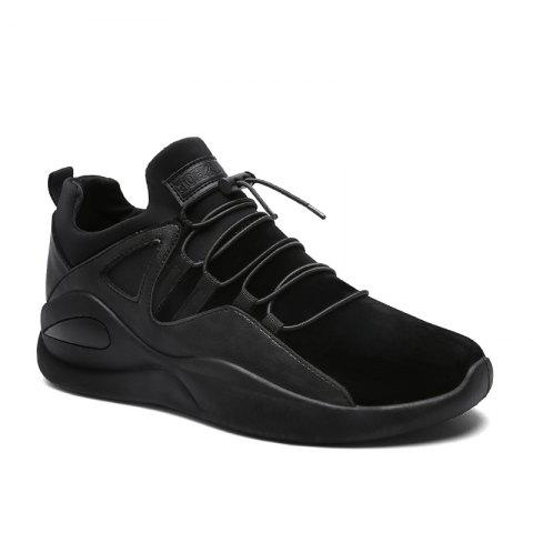 Men Fashion Dark Style Sneakers - BLACK 41