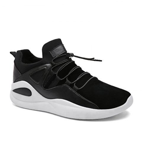 Men Fashion Dark Style Sneakers - BLACK WHITE 44