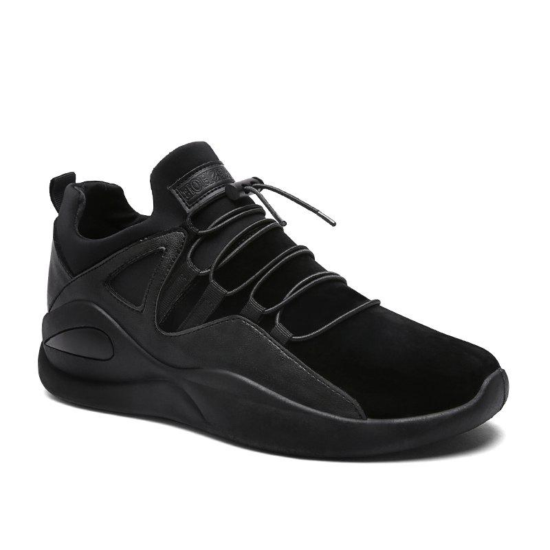 Men Fashion Dark Style Sneakers - BLACK 39