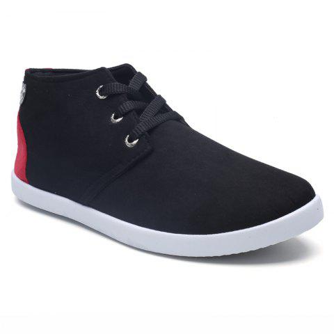 Middle Vamp Sports Leisure Flat Shoes - BLACK/RED 44