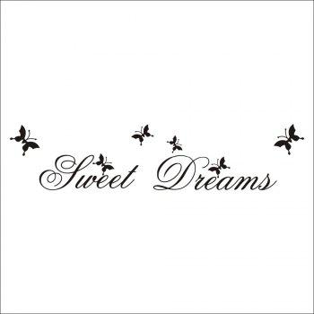 DSU Sweet Dream in Flying Butterflies Wall Sticker -  BLACK
