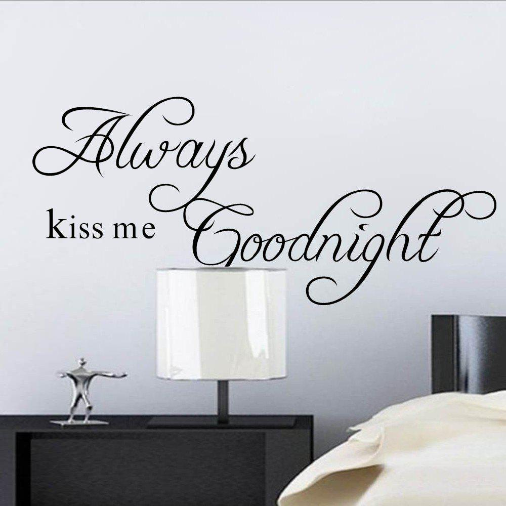 DSU Always Kiss Me Goodnight Wall Decor always kiss me goodnight letters patterned wall decal