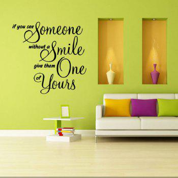 DSU Wall Decor If You See Someone Without Smeil Give One Of Yours - BLACK
