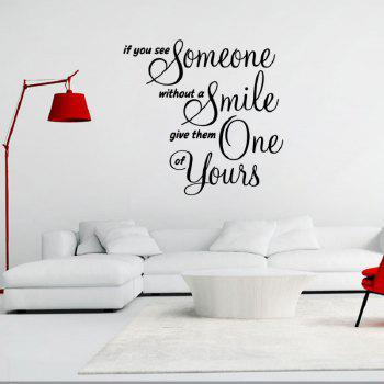 DSU Wall Decor If You See Someone Without Smeil Give One Of Yours - BLACK BLACK