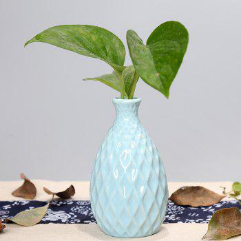 791 1PCS Creative Ceramic Vase Simple Home Tableware - LIGHT BLUE LIGHT BLUE