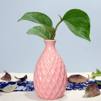 791 1PCS Creative Ceramic Vase Simple Home Tableware - PINK PINK