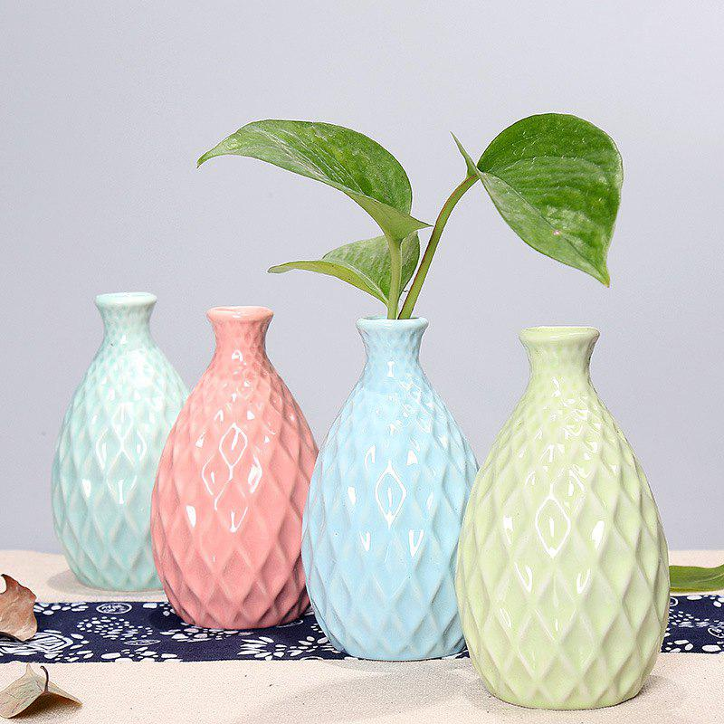 791 1PCS Creative Ceramic Vase Simple Home Tableware - LIGHT BLUE
