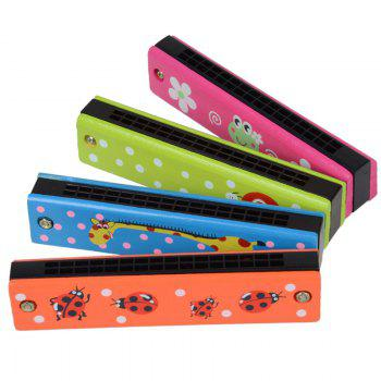 Wooden Colored Painted Harmonica 4PCS for Children - COLORFUL COLORFUL