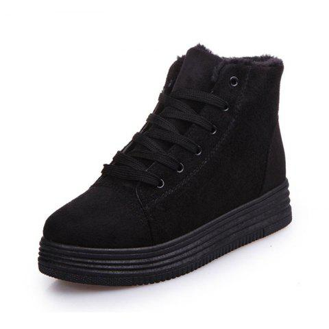 Recreational Sports with Cotton Shoes - BLACK 37