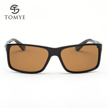 TOMYE P522 PC Square Frame Anti UV Cool Polarized Sunglasses for Men and Women - TEA FRAME GRADIENT TEA