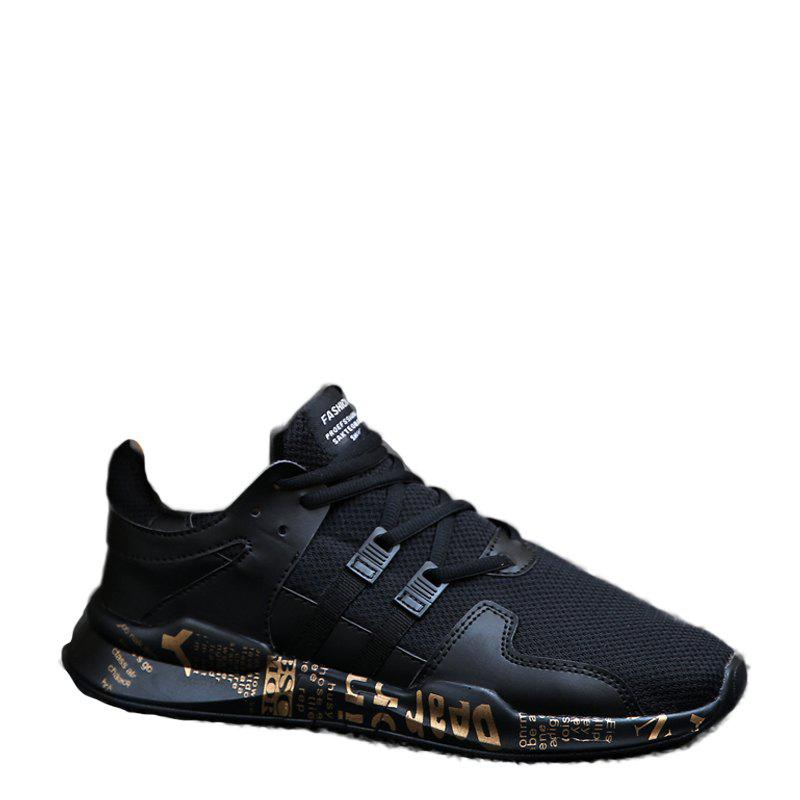 Dark Style Fashion Leisure Shoes - BLACK GOLD 44