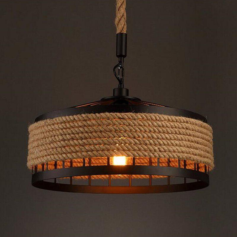 Ms 04 nordic hemp rope chandelier dangling lamp pendant light fixtures home decor clementine