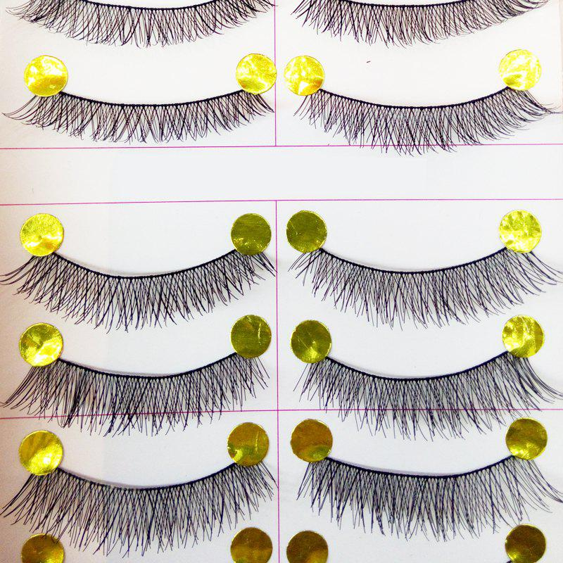 Natural Pure Manual False Eyelash Cross and Glue and Auxiliary Device and Small Scissors Suits - BLACK