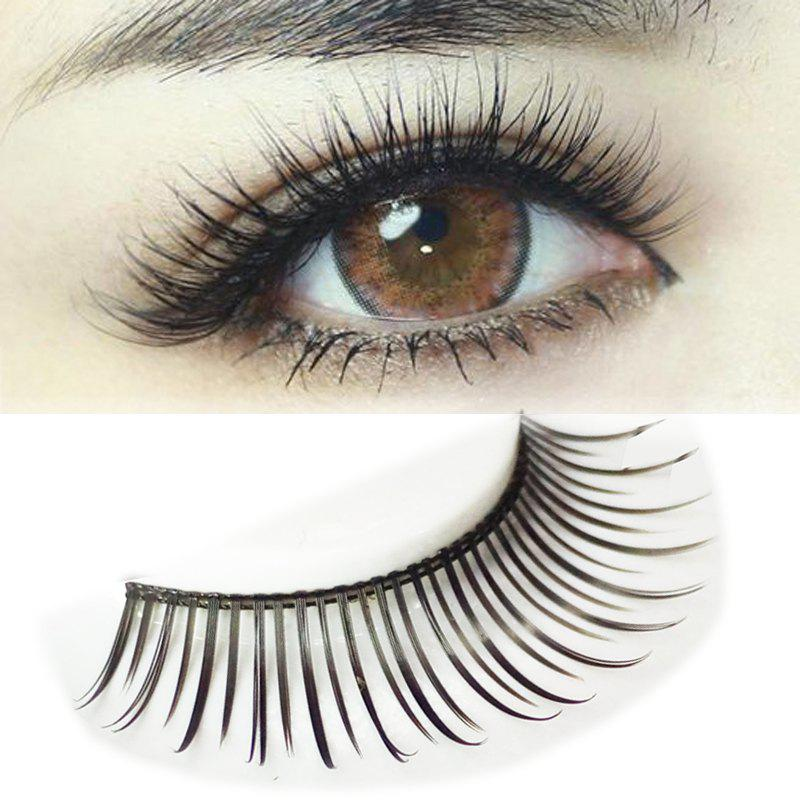 Pair of Beautiful Black Natural Long Eyelash - BLACK