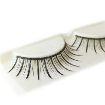 Pair of Black Natural Long Eyelash - BLACK