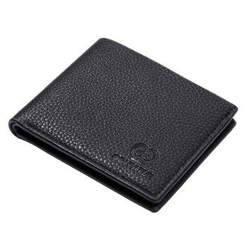 JPT-9002-Cross Section of Single Packet Multi Card Wallet Card Package New Men'S Short Wallet - BLACK