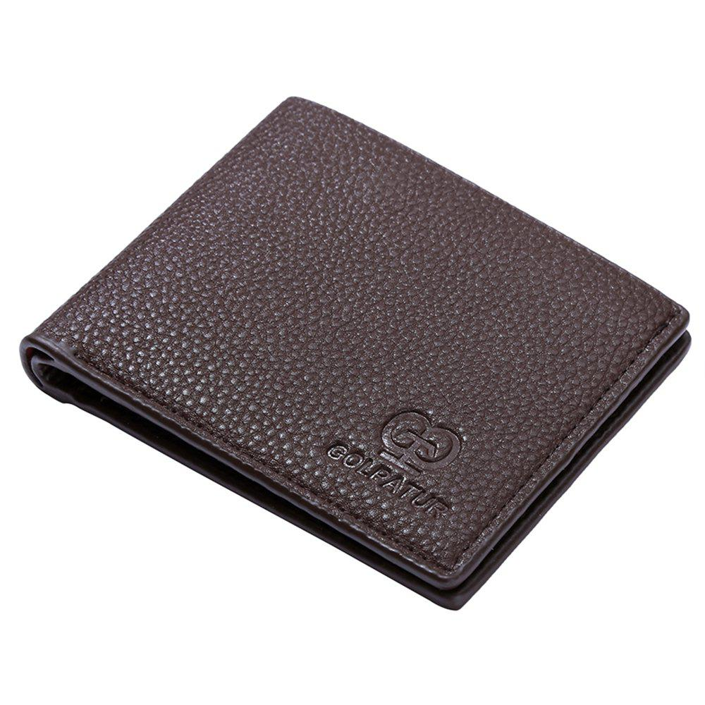 JPT-9002-Cross Section of Single Packet Multi Card Wallet Card Package New Men'S Short Wallet - BROWNIE
