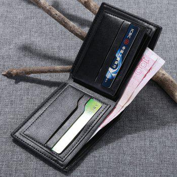 JPT-1032Multi Card Man Single Package Sheet PU Wallet Are Men - BLACK