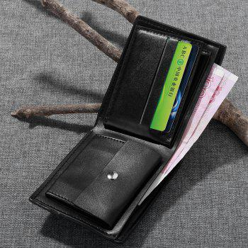 JPT-1037Multi Card Man Single Package Sheet PU Wallet Are Men - BLACK
