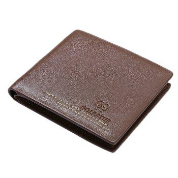 JPT-630-1Multi Card Man Single Package Sheet PU Wallet Are Men -  BROWNIE